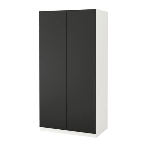 pax kleiderschrank 100x60x201 cm scharnier sanft schlie end ikea. Black Bedroom Furniture Sets. Home Design Ideas