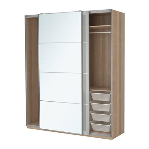 pax kleiderschrank 200x66x236 cm schiebet rd mpfer schiebet rd mpfer ikea. Black Bedroom Furniture Sets. Home Design Ideas