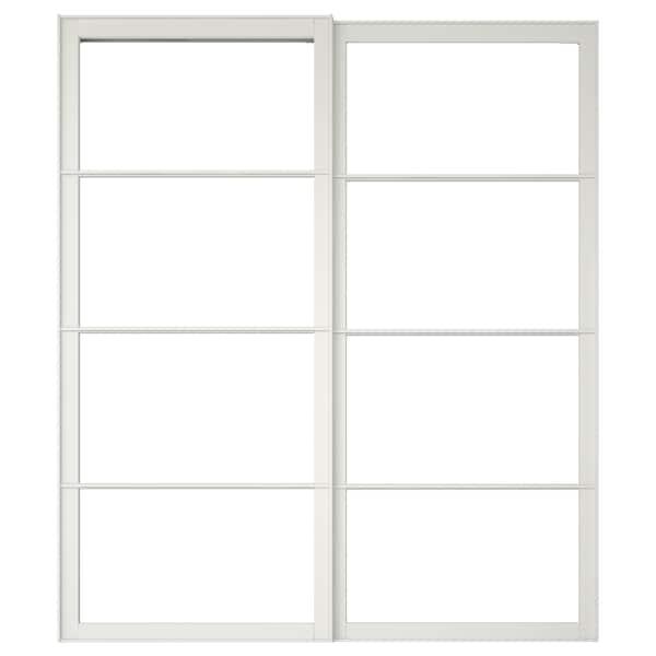 PAX Rahmen f Schiebetürpaar mit Schiene, weiß, 200x236 cm