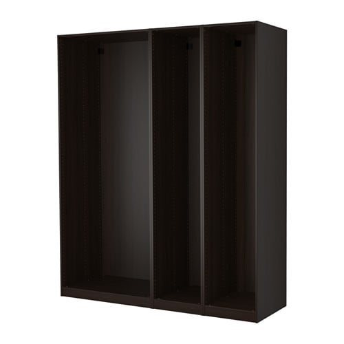 pax 3x korpus kleiderschrank schwarzbraun ikea. Black Bedroom Furniture Sets. Home Design Ideas