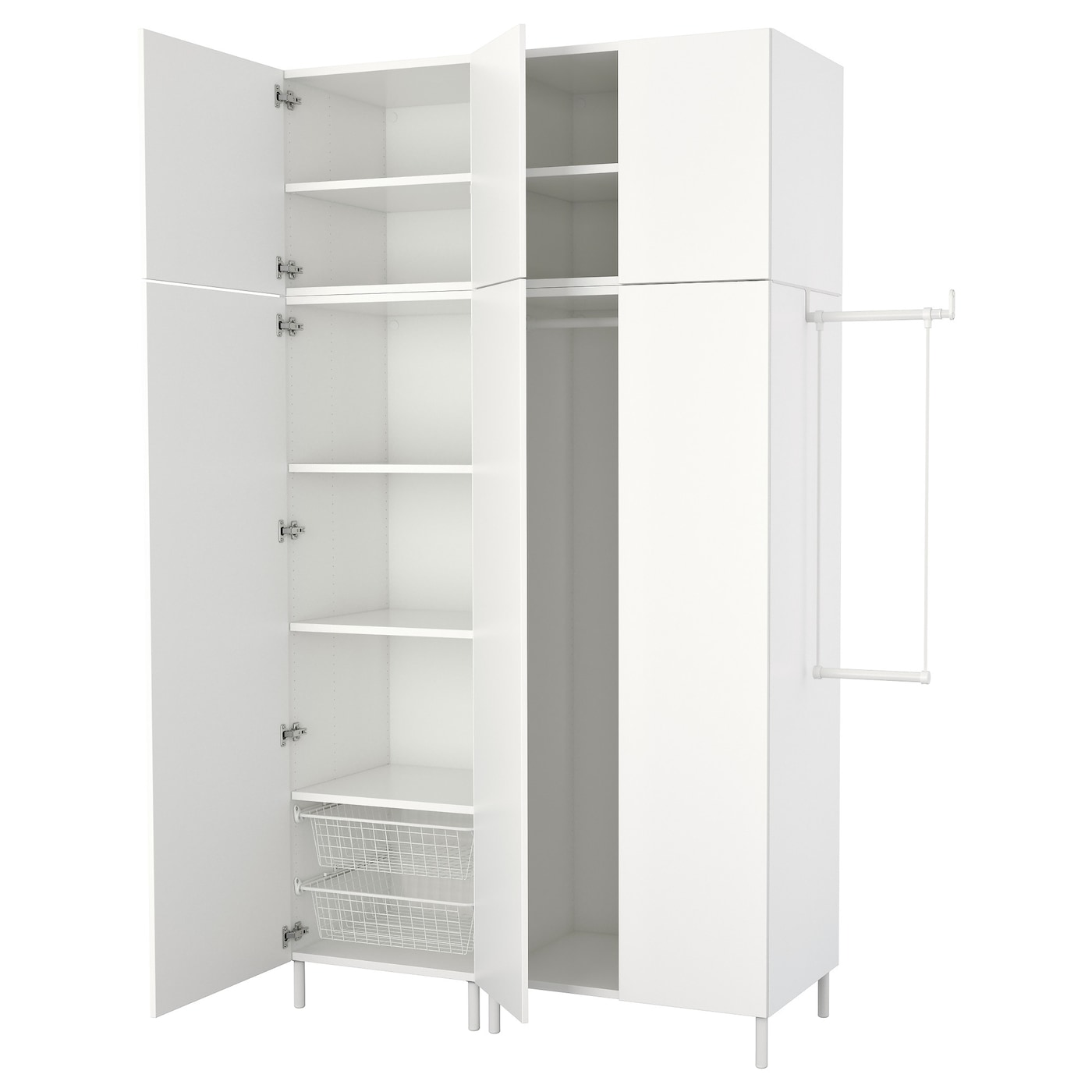 Platsa Kleiderschrank Weiss Fonnes Weiss Hier Erhaltlich Ikea