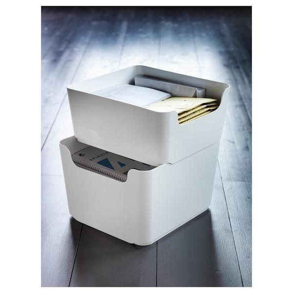 PLUGGIS Behälter für Abfalltrennung, weiß, 8 l