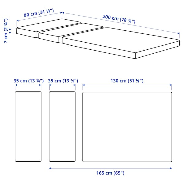 PLUTTEN Schaummatratze für ausz Bettgest, 80x200 cm