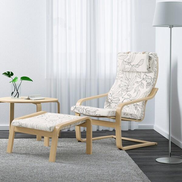 POÄNG Sessel Birkenfurnier/Vislanda schwarz/weiß 68 cm 82 cm 100 cm 56 cm 50 cm 42 cm