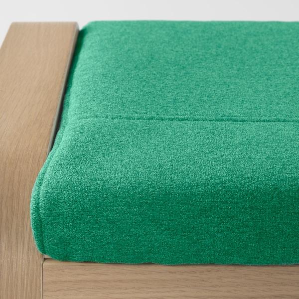 POÄNG Hocker Eichenfurnier weiß lasiert/Lysed leuchtend grün 68 cm 54 cm 39 cm
