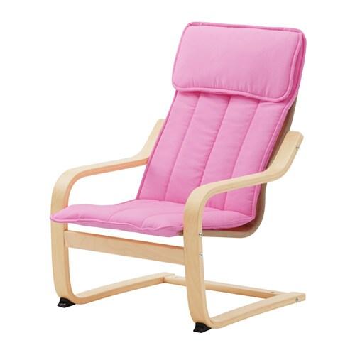 po ng kindersessel birkenfurnier alm s rosa ikea. Black Bedroom Furniture Sets. Home Design Ideas