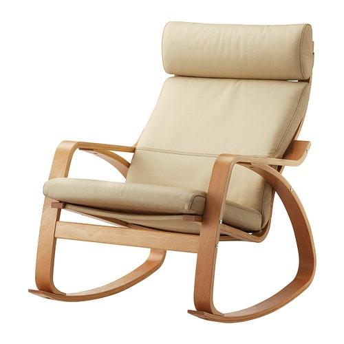 po ng schaukelstuhl glose eierschalenfarben. Black Bedroom Furniture Sets. Home Design Ideas