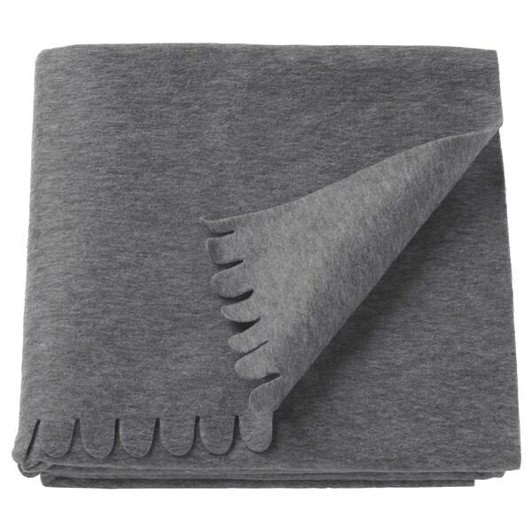 POLARVIDE Plaid, grau, 130x170 cm