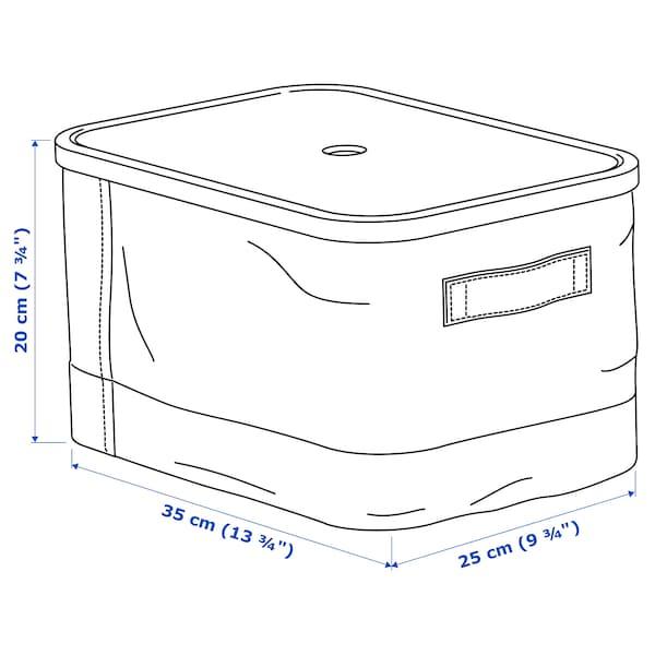 RABBLA Kasten mit Deckel, 25x35x20 cm