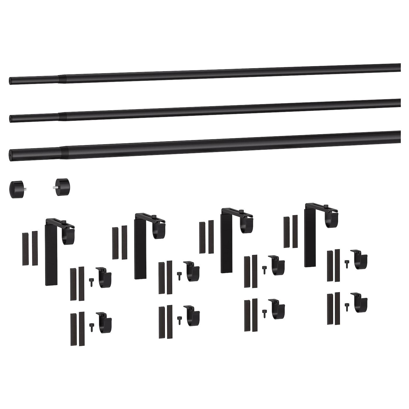 IKEA RÄCKA Wandbeschlag für Gardinenstange; in schwarz