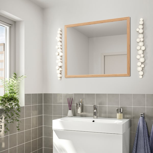 RÅGRUND Spiegel, Bambus, 80x60 cm