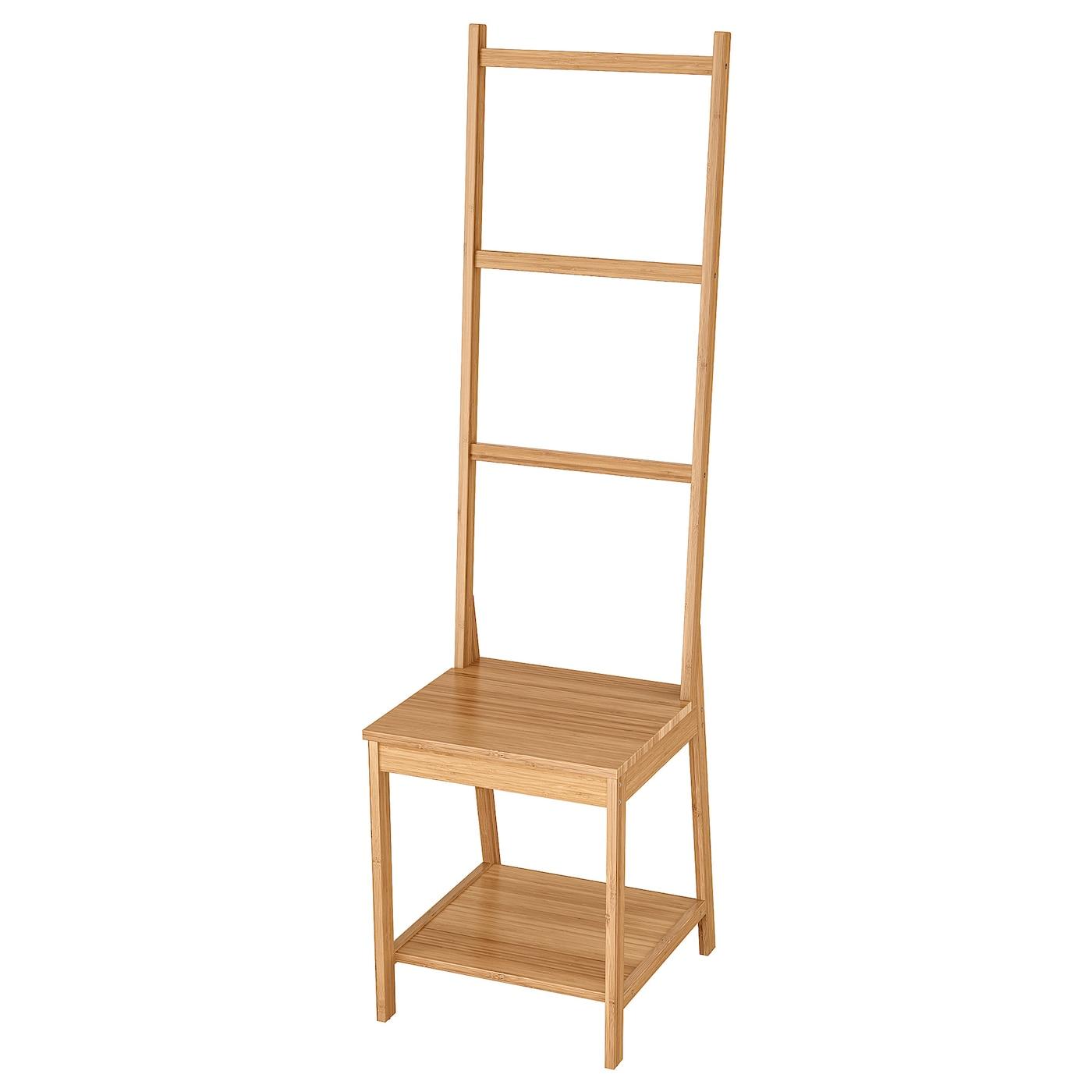 RÅGRUND Stuhl mit Handtuchhalter - Bambus Klein
