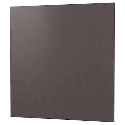 RÅHULT Wandpaneel maßgefertigt, matt dunkelgrau/marmoriert Steinkomposit, 1 m²x1.2 cm