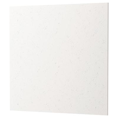 RÅHULT Wandpaneel maßgefertigt, weiß marmoriert Steinkomposit, 1 m²x1.2 cm