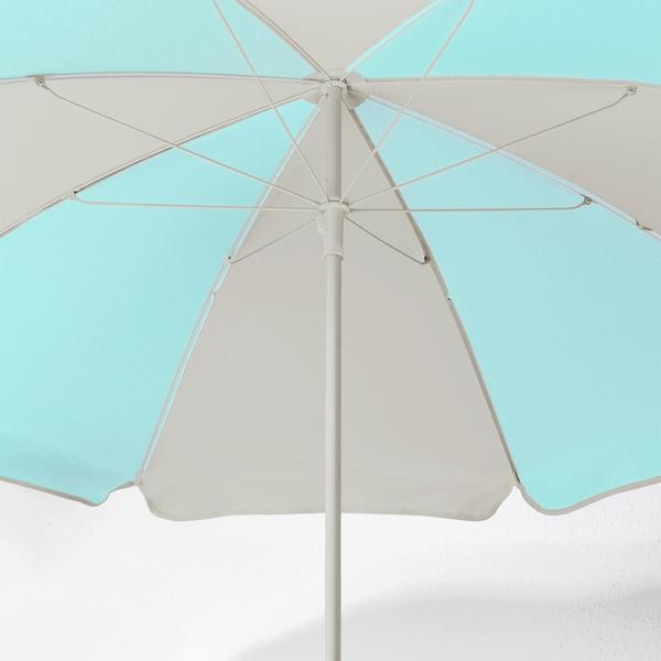 RAMSÖ Sonnenschirm, türkis/hellbeige, 125 cm