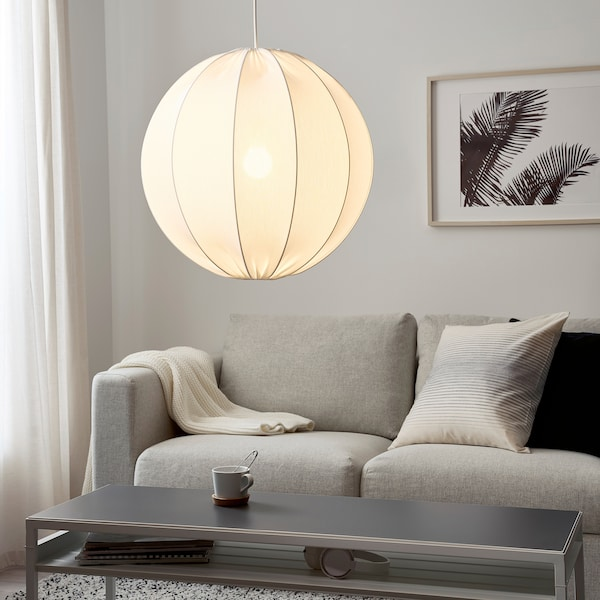 REGNSKUR Hängeleuchtenschirm, rund weiß, 50 cm