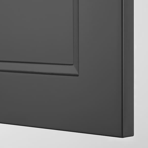 RIDDARE Tür, dunkelgrau, 60x64 cm