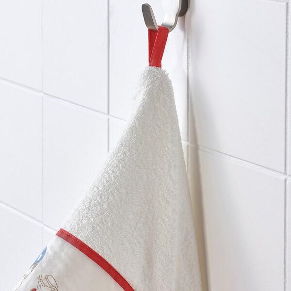 RÖDHAKE Babybadetuch mit Kapuze Kaninchen/Blaubeeren 125 cm 60 cm