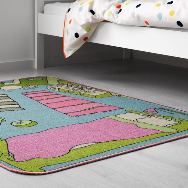 RUMMET Teppich Kurzflor, bunt, 100x133 cm