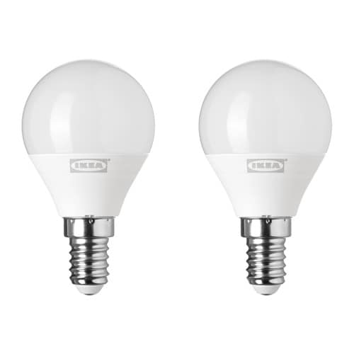 Ryet led lampe e14 200 lm ikea for Lampade a led ikea