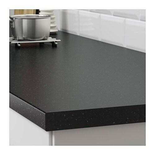 SÄLJAN Arbeitsplatte - schwarz Quarzmuster, 186x3.8 cm - IKEA | {Arbeitsplatte schwarz 11}