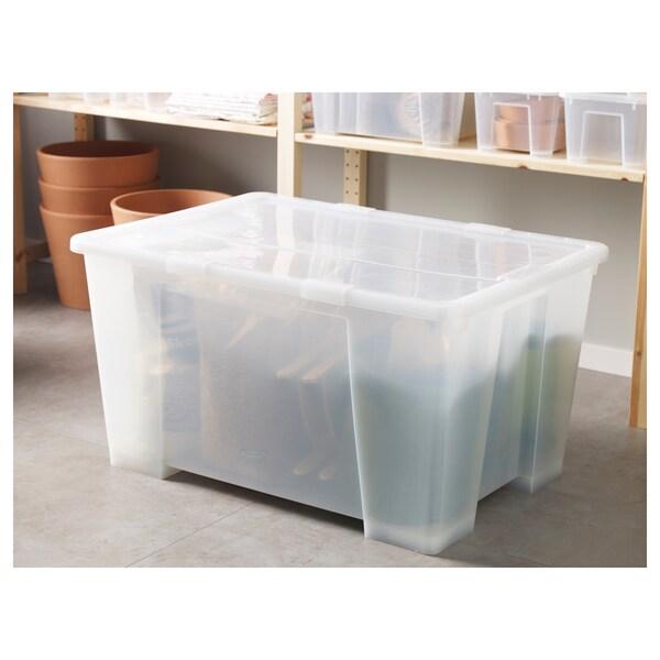 SAMLA Verschlussklips f Box 55/130 l transparent 8 cm 4 Stück
