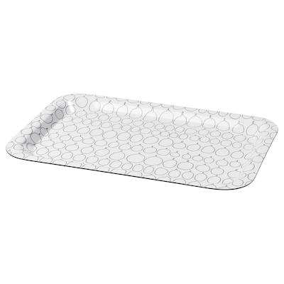 SAMMANHANG Tablett, weiß, 28x20 cm