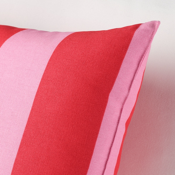 SARAKAJSA Kissen, rosa/rot/gestreift, 30x58 cm