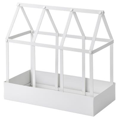 SENAPSKÅL Deko-Gewächshaus, drinnen/draußen weiß, 34 cm