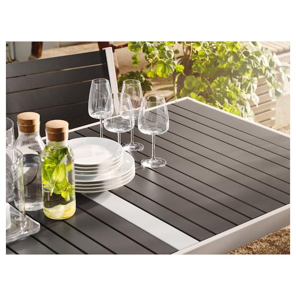 SJÄLLAND Tisch+4 Armlehnstühle/außen dunkelgrau/Frösön/Duvholmen dunkelgrau 156 cm 90 cm 73 cm