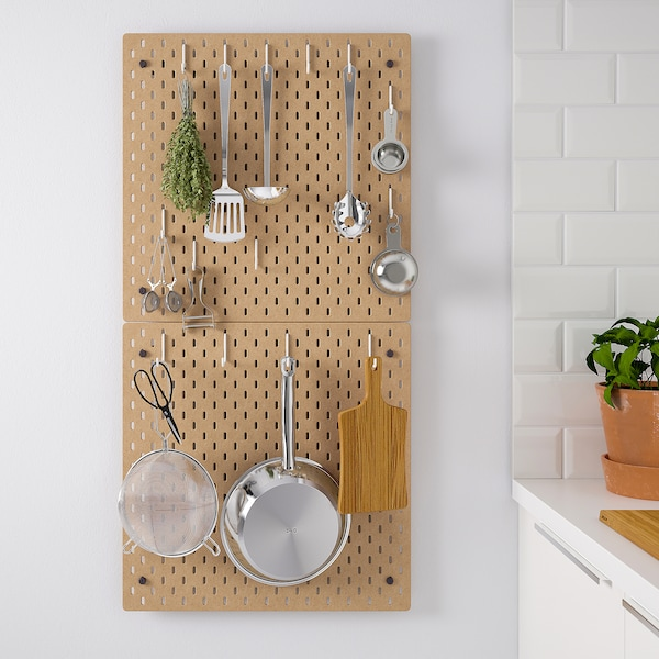 Skadis Lochplatte Kombination Holz Ikea Osterreich