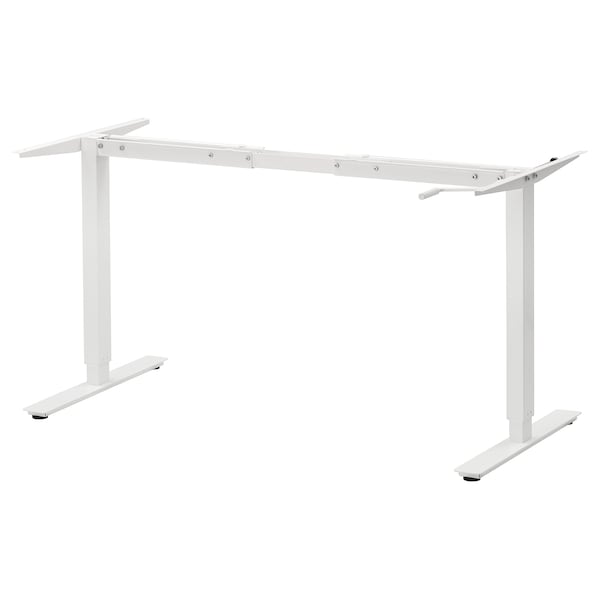 SKARSTA Gest. f Tischpl. sitz/steh, weiß, 120/160 cm