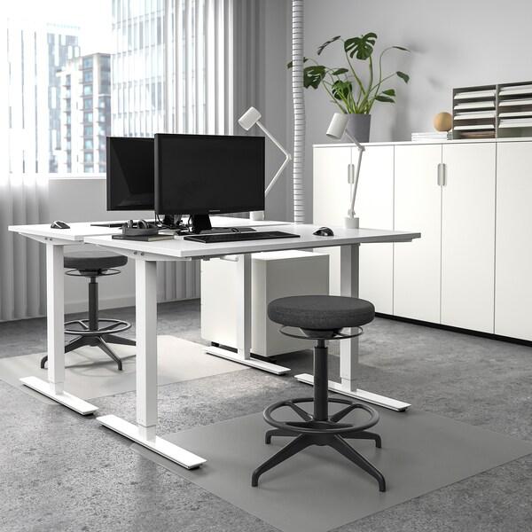SKARSTA Schreibtisch sitz/steh, weiß, 120x70 cm