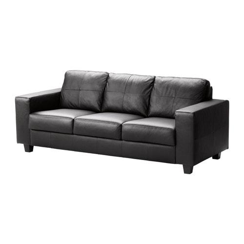 Ikea Ledersofa skogaby 3er sofa glose bomstad schwarz ikea