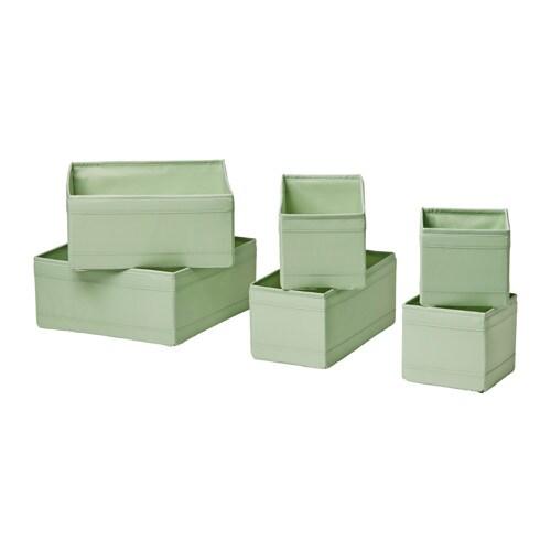 skubb box 6er set hellgr n ikea. Black Bedroom Furniture Sets. Home Design Ideas
