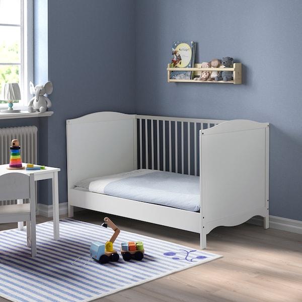 SMÅGÖRA Babybett, weiß, 70x140 cm