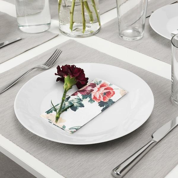 SMAKSINNE Papierserviette, bunt/Blume, 33x33 cm