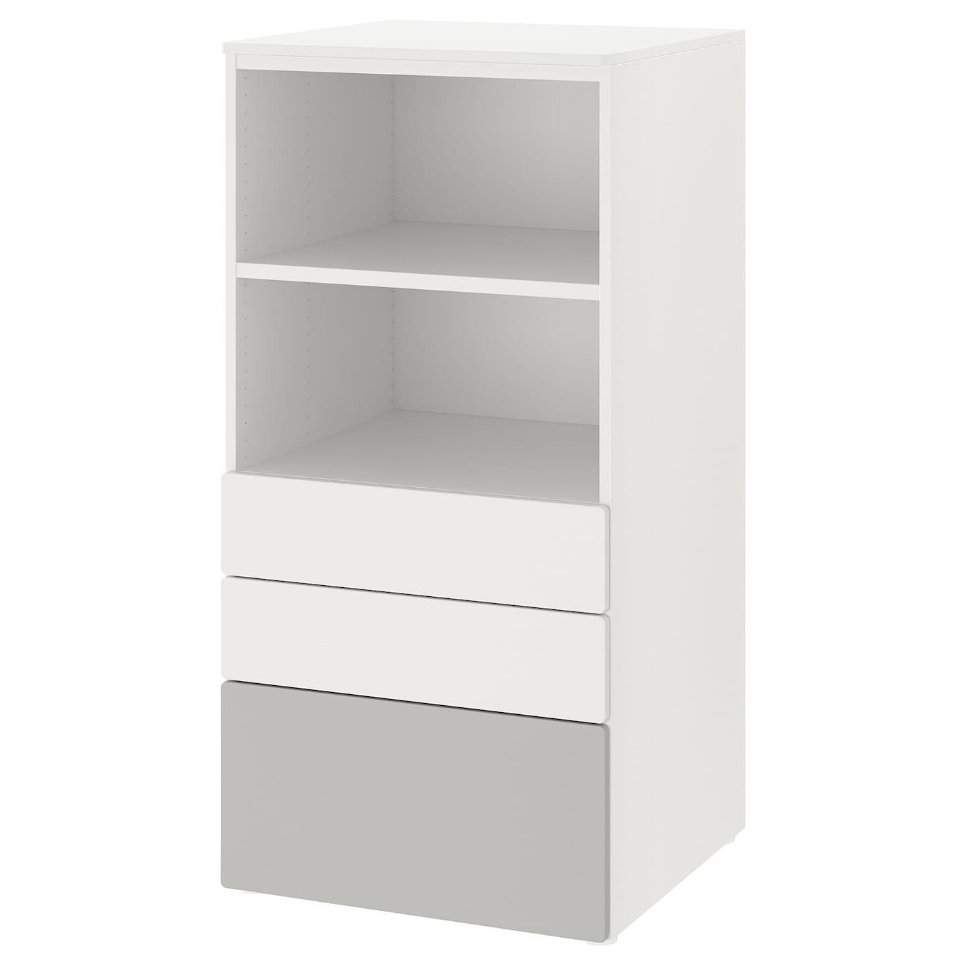 Tisch Regal Kombination Weiß mit 8 offenen Fächern