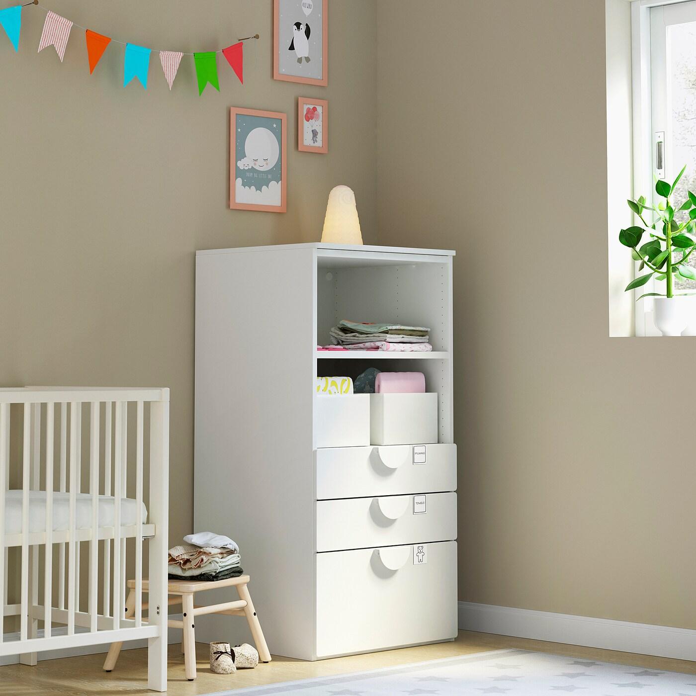 SMÅSTAD PLATSA Regal weiß weiß3 Schubladen IKEA