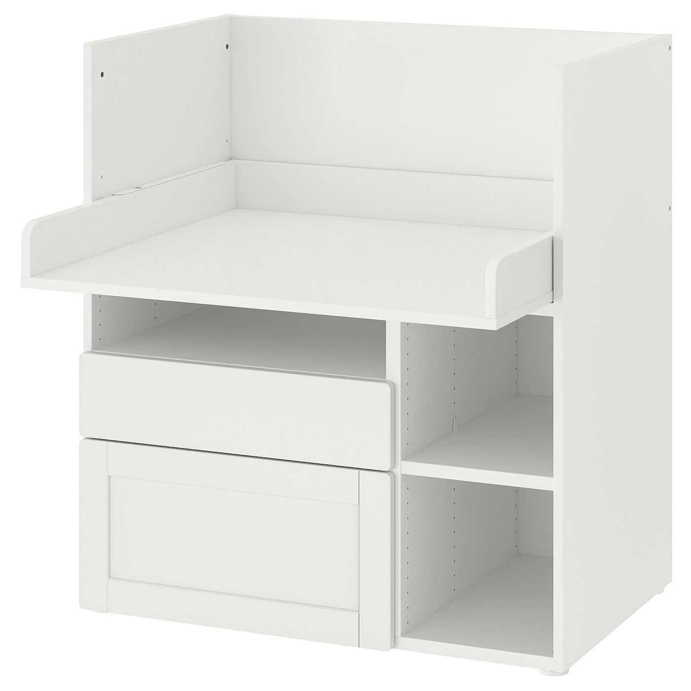 SMÅSTAD PLATSA Regal weiß mit Rahmen2 Schubladen IKEA