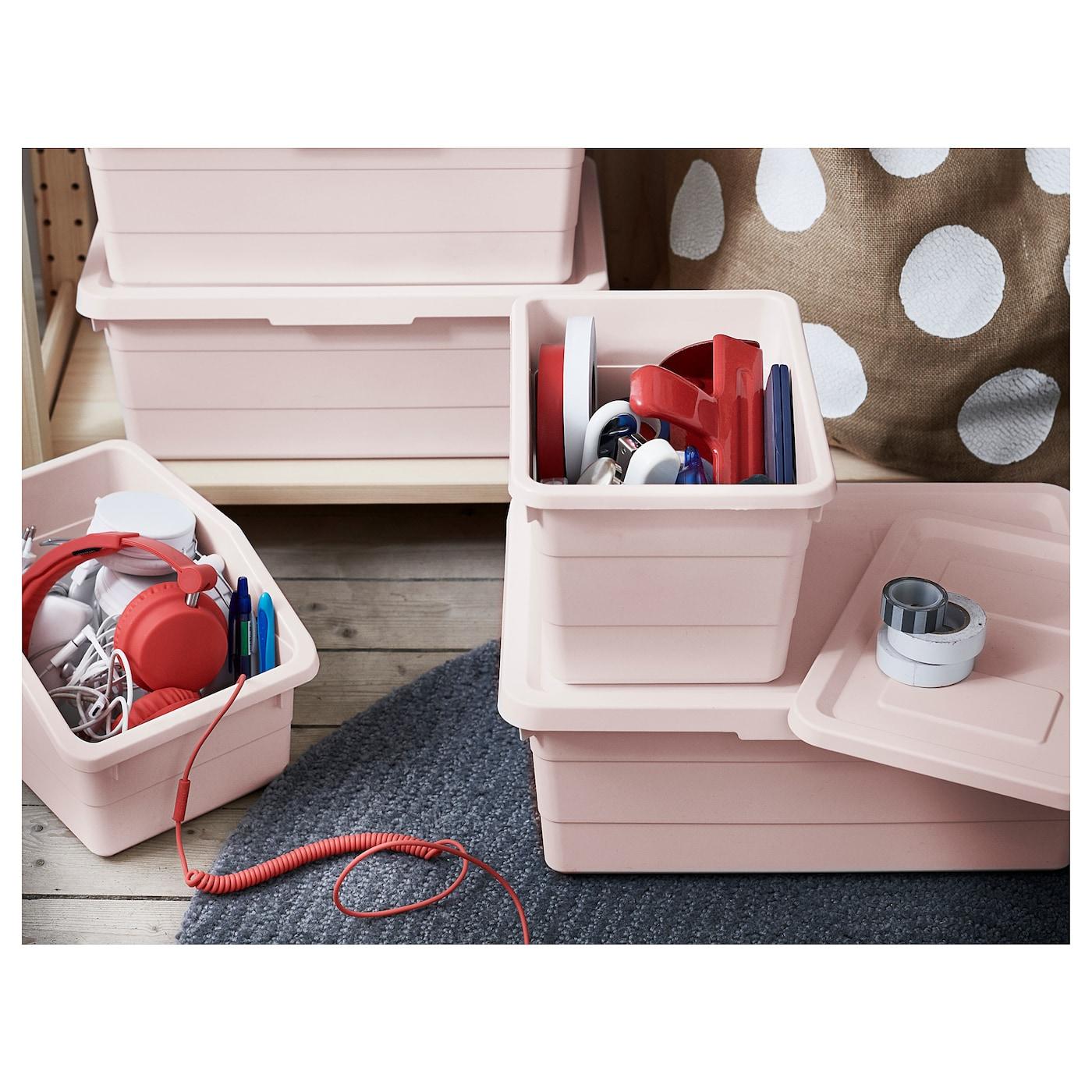 SOCKERBIT Box mit Deckel rosa IKEA Österreich