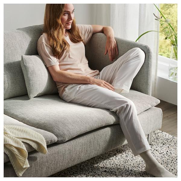 SÖDERHAMN 3er-Sofa ohne Abschluss/Viarp beige/braun 83 cm 69 cm 192 cm 99 cm 14 cm 6 cm 70 cm 39 cm