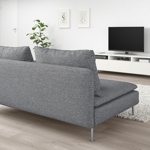 SÖDERHAMN Sitzelement 3, Lejde grau/schwarz