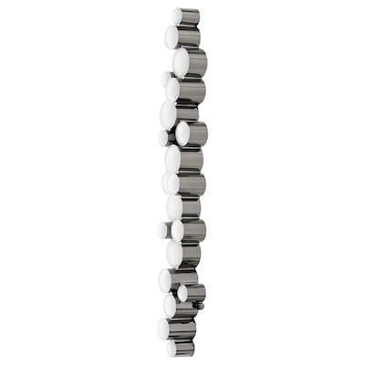 SÖDERSVIK Wandleuchte, LED, schwarz/verchromt, 70x10 cm