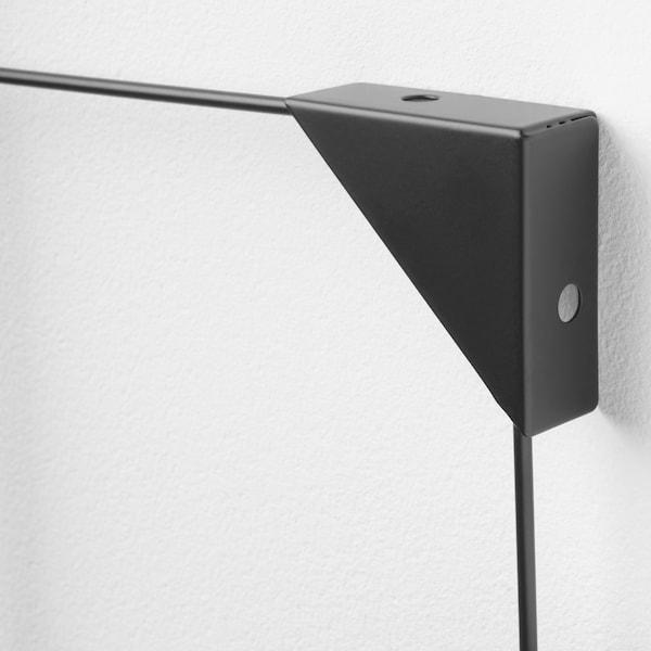 SÖSDALA Notizgitter mit Clips, schwarz, 60x75 cm
