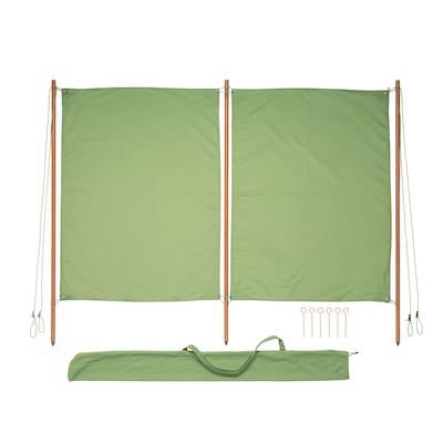 SOLBLEKT Wind-/Sonnenschutz grün 194 cm 160 cm 25 mm