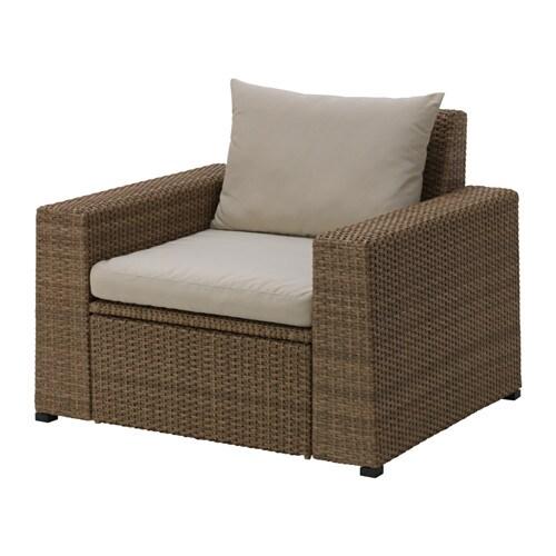 soller n sessel au en braun h ll beige ikea. Black Bedroom Furniture Sets. Home Design Ideas