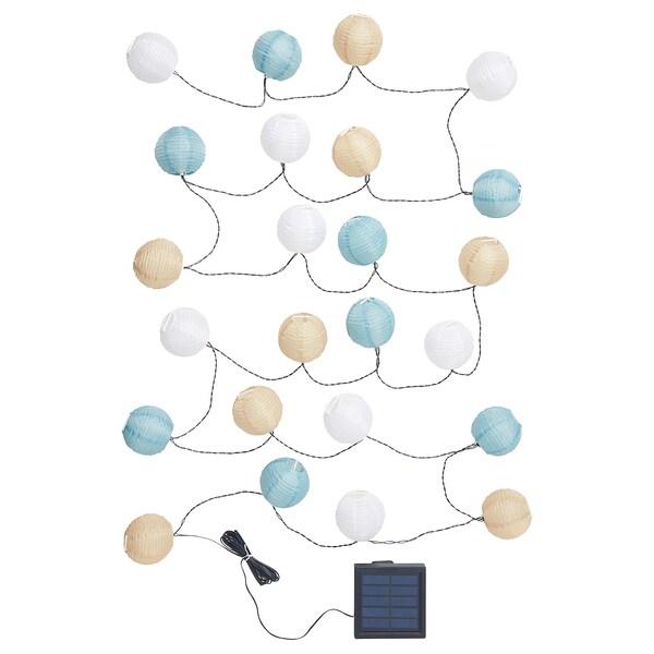 IKEA Solvinden Lichterkette rund bunt 24 LED 304.221.31 Solarbetrieben  NEU OVP