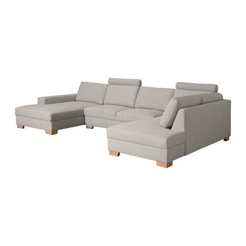 s rvallen ecksofa mit r camiere links ten hellgrau ikea. Black Bedroom Furniture Sets. Home Design Ideas