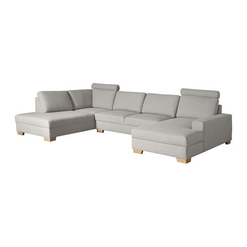 s rvallen ecksofa mit r camiere rechts ten hellgrau ikea. Black Bedroom Furniture Sets. Home Design Ideas
